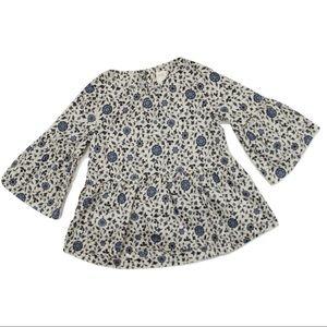 Gap Girls Bell Sleeve Blouse, Size 5